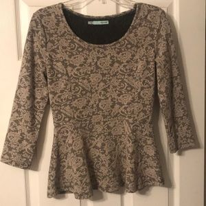 Small, floral embroidered blouse from Maurice's.